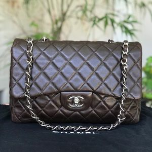 Authentic Chanel Classic Single Flap Jumbo Bag